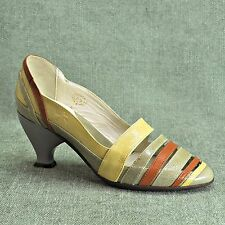 "JOHN FLUEVOG ""Drew"" Multi-Color with Gray Strappy Heels Women's sz 6.5  NEX2NEW"