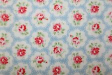 Cath Kidston Blue Provence Rose Haberdashery Fabric Floral FQ By The Metre