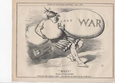 AEOLUS (Ruler of the Storms) War blows in from the East. 1878 Punch Cartoon