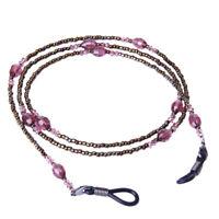 Crystal Beads Eyeglass Reading Eyewear Spectacles Lanyard Cord Holder