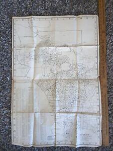 1954 Vintage LOS ANGELES City Schools Map of Los Angeles
