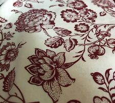 BTY Wine-Red/Off White Heritage Floral-Colonial Williamsburg-Cotton Fabric Xmas