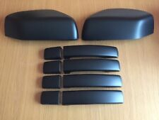 MATT BLACK HANDLE WING MIRROR COVERS RANGE ROVER SPORT DISCOVERY 3 FREELANDER 2