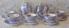 7 Maritime Rose Spode Bone China Cups and Saucers Made In England R4118