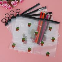 1Pc Cactus PVC Waterproof Cases  A5 File Folder Storage Pencil Ba-DD