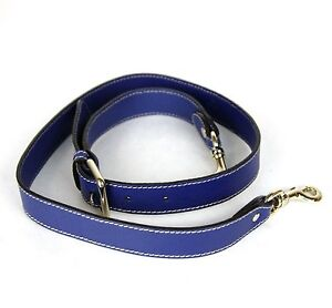 New Authentic GUCCI Leather Shoulder Strap for Bags Blue 292524 4551
