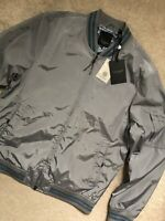 """TED BAKER MEN'S GREY """"MARTY"""" SPORTY BOMBER JACKET COAT - XL 5 - NEW & TAGS"""