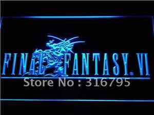 New Final Fantasy 6 video game hanging LED Neon Light Sign Bar Man Cave 7 colors