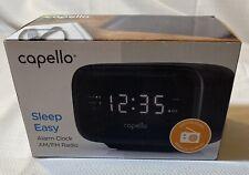 ⏰Capello Sleep Easy Digital Alarm Clock with AM/FM Radio Black CR15
