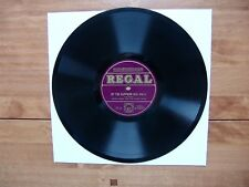"10"" 78 Wood, Harry ""By The Sapphire Sea"" /Where The Blue Bird Sings REGAL G 7957"