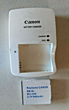 Genuine Canon Battery Charger Cb-2Ly and 1 Oem battery pack Nb-6L