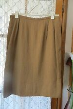 VINTAGE  ~ KARL LAGERFELD ~ Mustard ~ Straight ~ SKIRT  * Size 14 * REDUCED !!