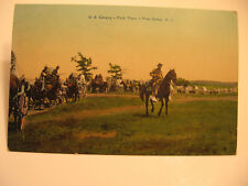 1911 U.S. Cavalry-Pack Train,  Pine Camp, N.Y. Color Postcard