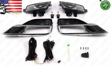 Clear Lens Fog Lights Kit with Switch Bulbs Bezel Set For 2015-2016 Honda CR-V