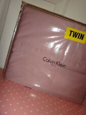 CALVIN KLEIN 3-PC TWIN Sheet Set Dusty Rose Smoky Pink 100% COTTON Made in INDIA