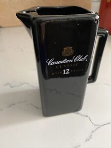 Canadian Club Classic Aged 12 Years Black Pub Jug Water Pitcher. S