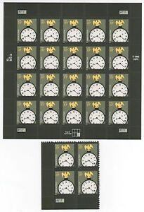 US AMERICANA 2003 SCOTT #3757 EAGLE ON CLOCK MVF 10c PLATE BLOCK+ 20 STAMP SHEET