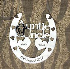Personalised Auntie & Uncle Wedding Horseshoe Keepsake,Bridal Gift FREE GIFT BAG