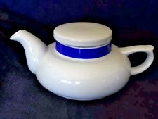 Vintage White Blue Tea Pot 16 oz Ceramic Toscany Solo Collection Made In Japan