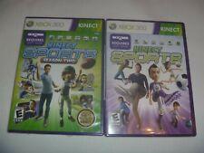 New listing Kinect Sports 1 (2010) & Season Two (2011) XBox 360 2 Game Sensor Set Lot