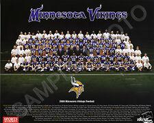 2009 MINNESOTA VIKINGS NFL FOOTBALL TEAM 8X10 PHOTO
