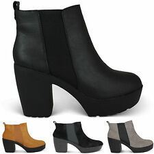 Snow, Winter Block Heel 100% Leather Boots for Women