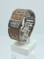 DKNY NY3895 ladies full bronze time only watch diamonds inserts NY-3895 3 ATM