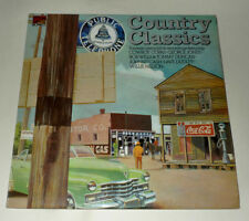 COUNTRY CLASSICS LP EXCL V/A JOHNNY CASH WILLE NELSON GEORGE JONES ao 1974 WX302