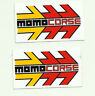 Momo Corse Original Sticker Decal Pair Small Size 65mm x 38mm - Two Stickers