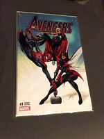 AVENGERS 1 RARE J SCOTT CAMPBELL RED SPIDER-MAN VARIANT NM