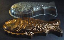 Two Fish Moulds Molds - 1 Tin lined Copper 1 Metalurgica Ideal Craft Moulding