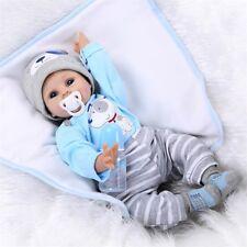 """22"""" 55cm Reborn Baby Doll Soft Handmade Lifelike Newborn Girl Boy Doll Realistic"""