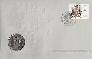 (74942) Portugal Azores 100 Escudos COIN FDC Autonomy 10 years 1986