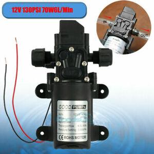 130PSI High Pressure RV Water Pump DC 12V MaX Self-Priming 70W