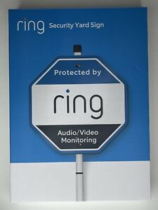 BRAND NEW IN THE BOX NIB Ring Home Security Yard Sign with Mounting Stake Pole