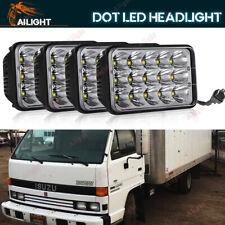 4PCS 4x6'' H4 LED Headlights Hi/Lo Beam For Forward Isuzu NPR-HD NQR GMC W3500
