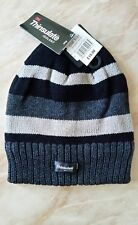 Mens 3M Thinsulate Insulated Stripe Beanie Hats.