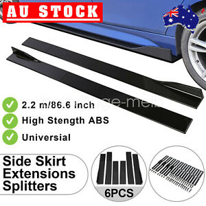 """86""""ABS Universal Car Side Skirt Splitters Anti-Scratch Protector Extension Panel"""