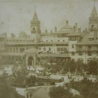 Antique Photo St Augustine FL Ponce de Leon Hotel Stereoview Lot (2) 1890-1900s