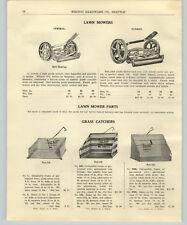 1917 PAPER AD Push Lawn Mower Reel Fender Admiral Alki Olympic Clover Leaf