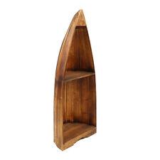 Bootsregal Badschrank Handtuchregal Boot Standregal 97 cm Asien Holz Hellbraun
