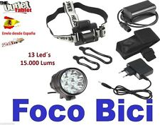 Luz foco para bici 13 LED 15000LM linterna bicicleta SENDERISMO 13xCREE XM-L btt
