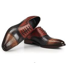 Mens Real Leather Pointy Toe Dress Oxfords Formal Business Wedding Shoes British