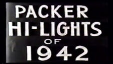 1942 Green Bay Packers DVD Highlights w/Graphics HUTSON ISBELL  Free Shipping