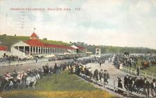 INTERSTATE FAIR GROUNDS SIOUX CITY IOWA HORSE RACE POSTCARD 1909