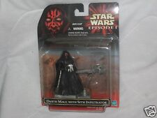 1999 Star Wars Episode 1 Darth Maul with Sith Infiltrator New on Card Action Fig