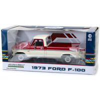 1/18 Greenlight 1973 Ford F-100 Pickup Truck Diecast Model Car Red White 12962