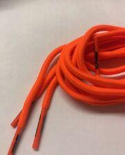 Pair Football Boots And Sport Shoe Laces (120cm Round Laces)- Fluorescent Orange