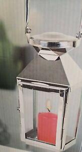 Laterne Edelstahl Windlicht Kerzenhalter Deko Wohndeko Hängen stellen Glas Neu