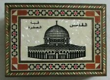 Petite boîte en bois, dessus nacre State of Palestine Alkafriyat Municpality